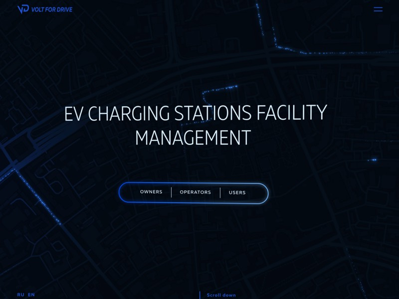404 error page deisgn example #137: Volt for Drive — EV Charging stations facility management