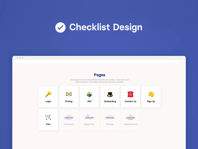 Checklist Design - best UI elements for the best UX practice